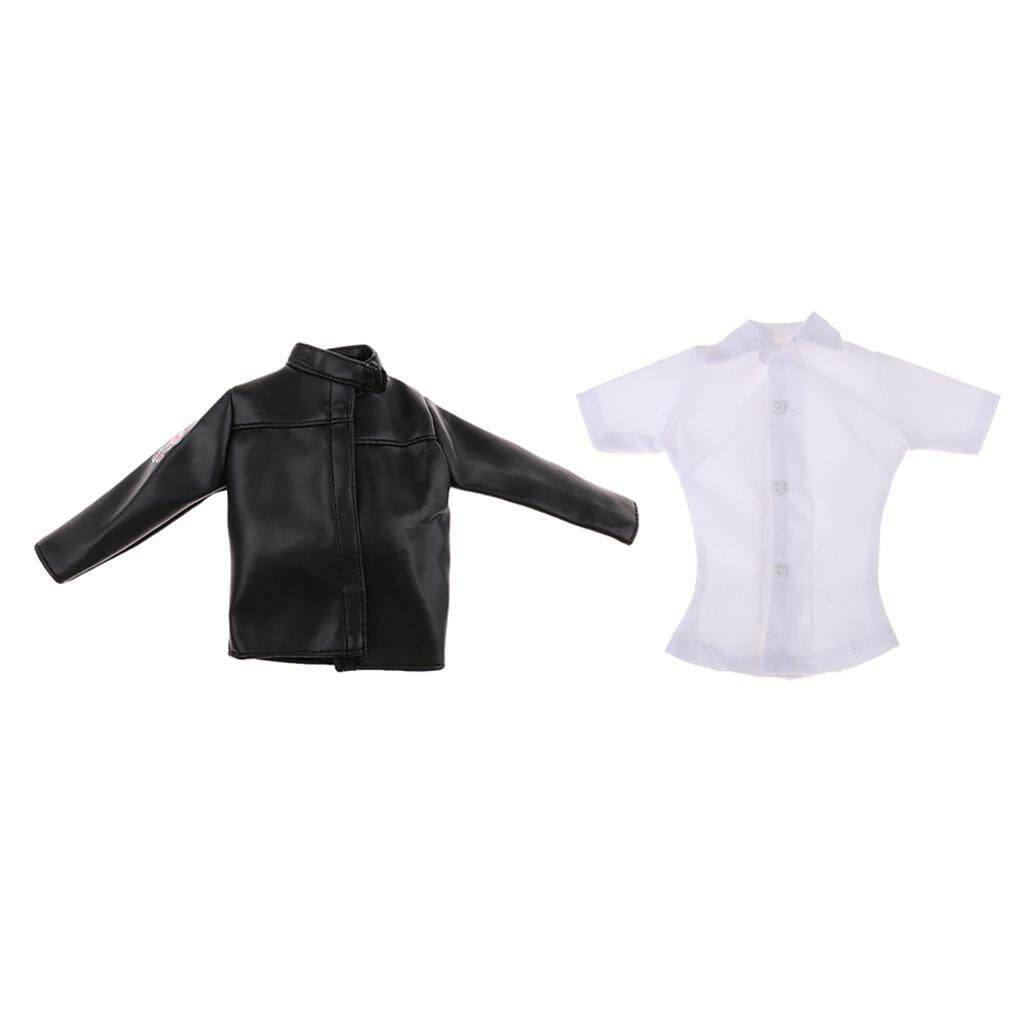 1:6 Figure Body PU Leather Jacket Coat for 12inch Phicen Female Doll Clothes
