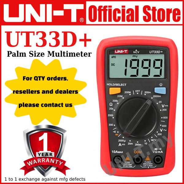 UNI-T UT33B+/UT33C+/UT33D+ Palm Size Multimeter