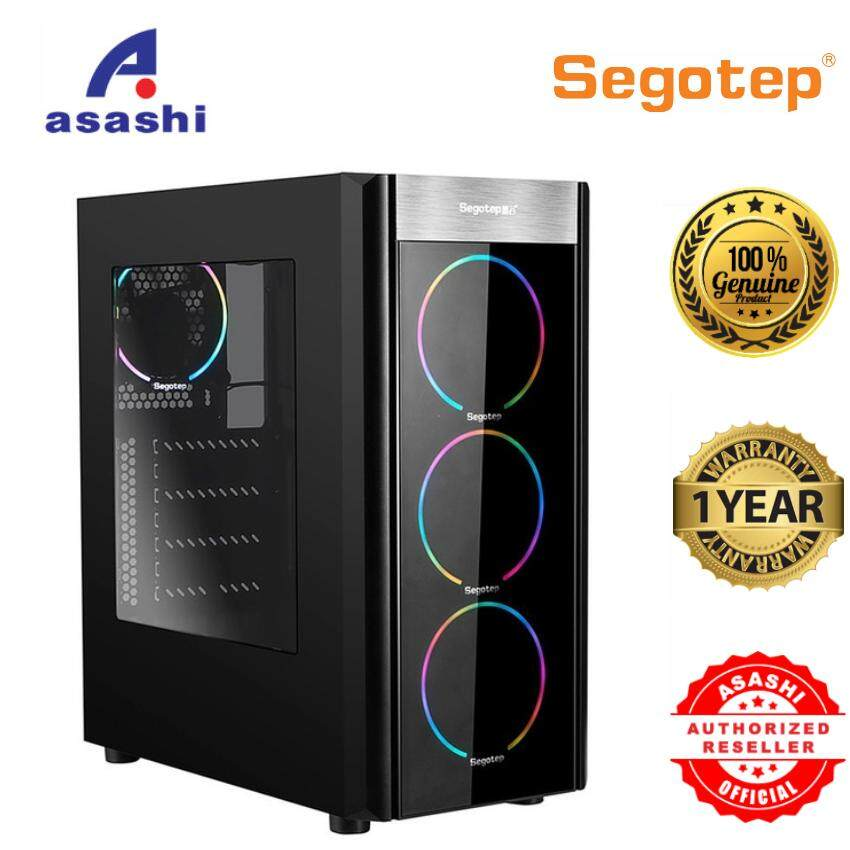 Segotep WIDER X3 RGB ATX Black Gaming Computer Case Malaysia