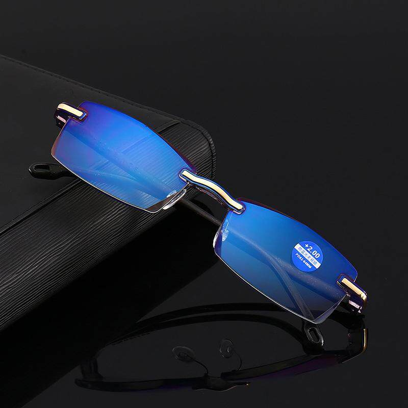 Anti Blue Ray Rimless Reading Glasses With +250 Degree By Josejinn.