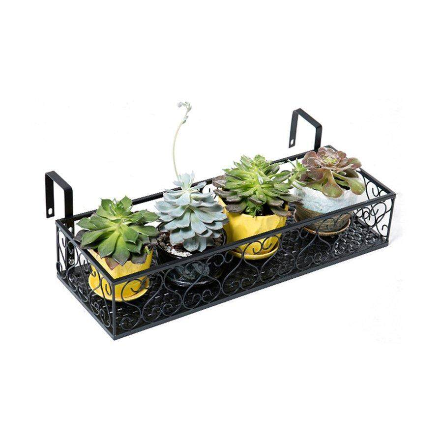 Best Seller European balcony flower stand Iron railing multi-layer hanging flower pot