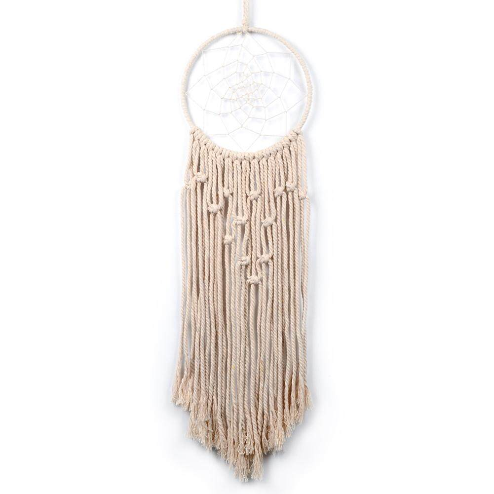 Home Hanging Pendant Handmade Macrame Cotton Line Wall Dream Catcher Decoration Specification:Beige