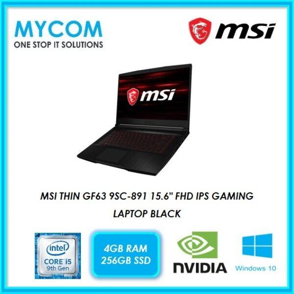 MSI THIN GF63 9SC-891 15.6 FHD IPS GAMING LAPTOP BLACK (I5-9300H, 4GB, 256GB SSD, GTX 1650 4GB, W10) Malaysia
