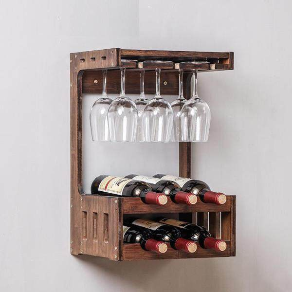 Wine Shelf Drinks Cabinet Hanging On the Wall By Olive Al Home