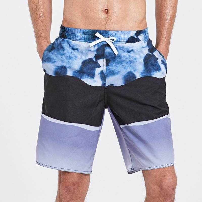c605908cd295f Beach Pants Men's Quick-drying Loose Five Pants Casual Large Size Swimming  Trunks Beach Holiday
