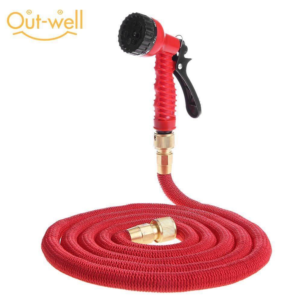 [Out-well] 25/50/75/100FT Garden Hose Expandable Flexible Water Hose Pipe Watering Kit with Spray Handle