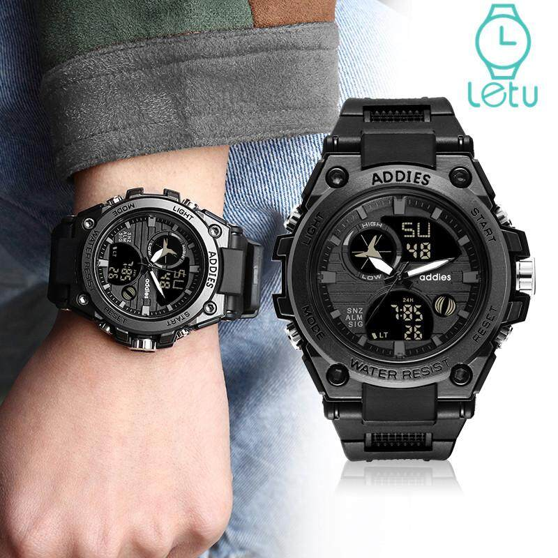 Addies MY-1818 Sports Watch For Men New Electronic Luminous Chronograph Waterproof Outdoor LED Multi-function Alarm Calendar Student Digital Mens Military Watch Malaysia