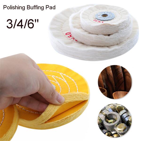 Cotton Polishing Wheels 3 /4 /6  Cloth Buffing Wheel Grinder For Jewelry Wood Metal Polishing Abrasive Tools