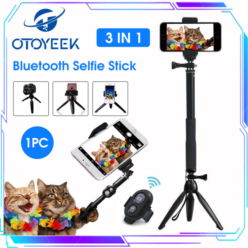 OTOYEEK Bluetooth Selfie Stick Tripod Camera Tripods Monopod Detachable Wireless Remote Extendable Handheld Holder Portable Stand Handsfree Shutter Flexible Holder for Phone Camera USB Rechargeable