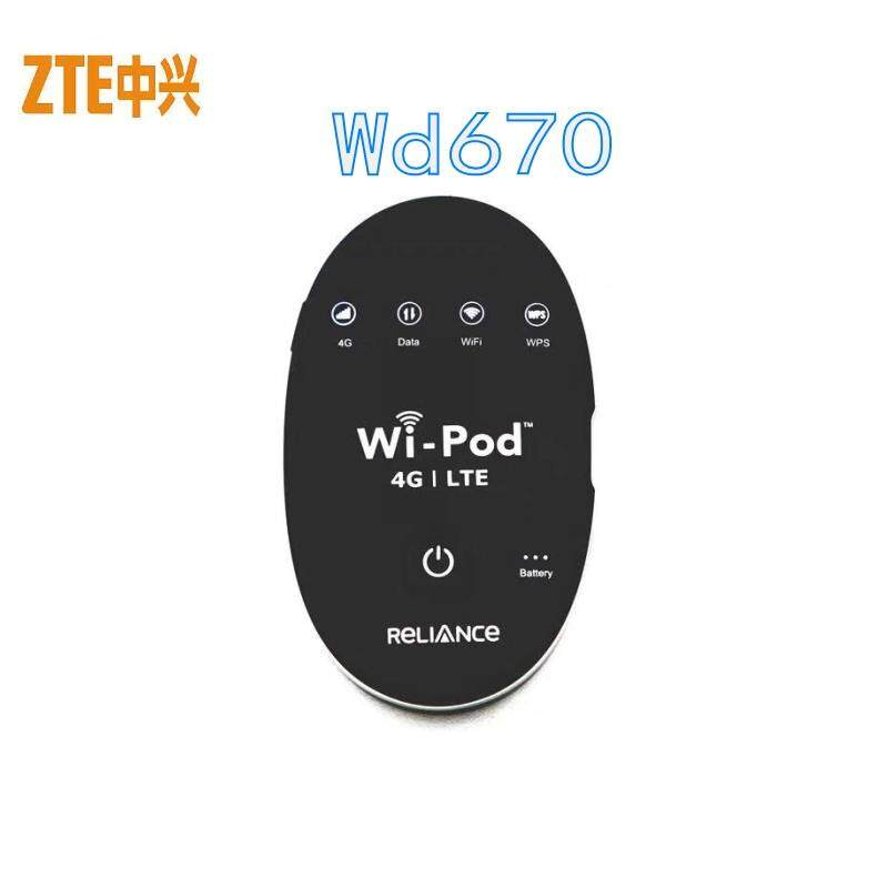 Unlocked ZTE WD670 Router Hotspot 4G LTE 850/1800 / 2300 MHZ WD670 Unlocked  GSM Up to 31 WiFi Users