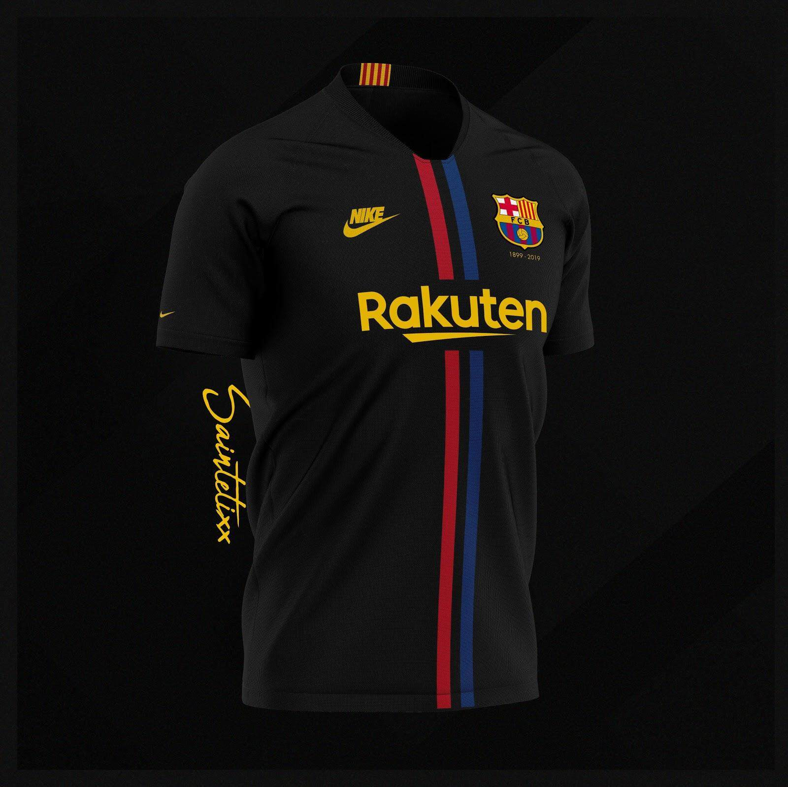eb310414 Barcelona 120-Years Anniversary Concept Jersey Home/Away/Black