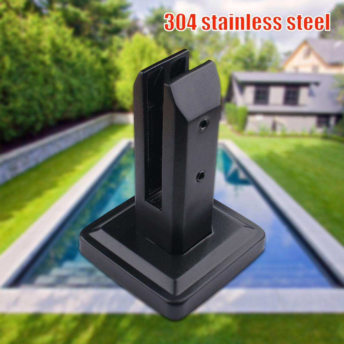 Floor Standing Stairs Balcony Pool Glass Spigots Post Balustrade Railing Clamp (Thickness 10-13mm)