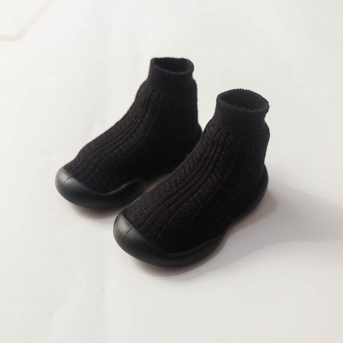0 Đến 4 Năm Thu Đông Mới Đan Đôi Dày Ấm Trẻ Em Vớ Sàn Bé Giày Cho Trẻ Mới Biết Đi Đế Cao Su Tất Màu Sắc Trang Nhã giá rẻ