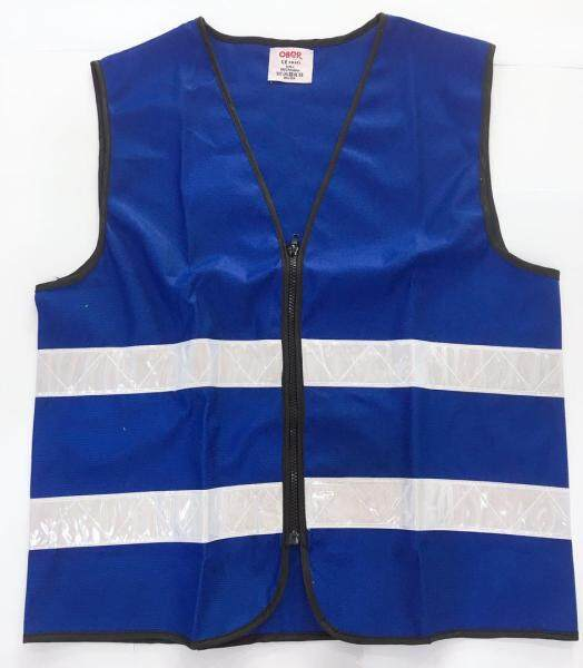 (LOCAL STOCK) SAFETY VEST ROYAL BLUE  WITH WHITE REFLECTIVE