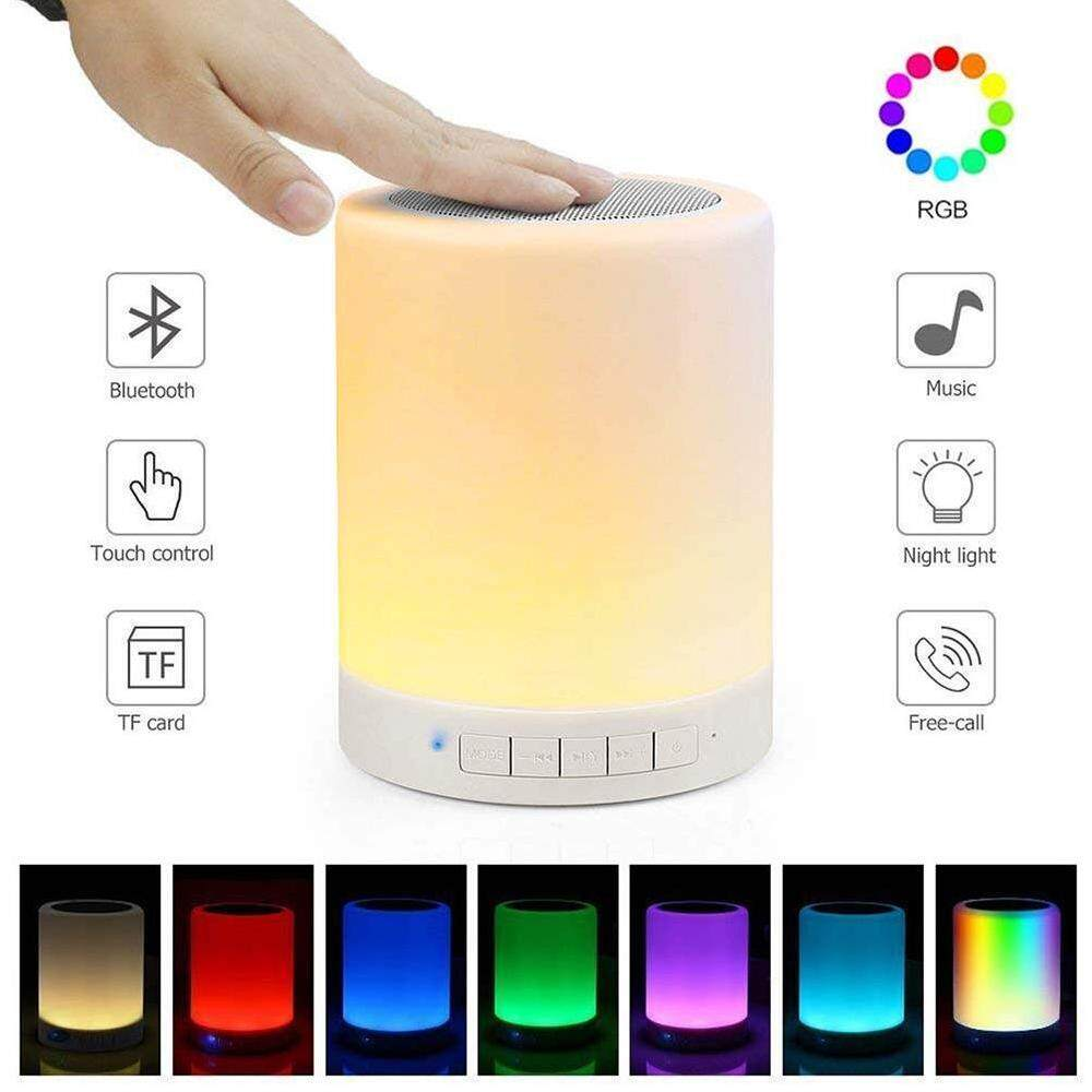 Watson USB Rechargeable LED Bluetooth Speaker Music Smart Touch & Night Light Desk Lamp Singapore