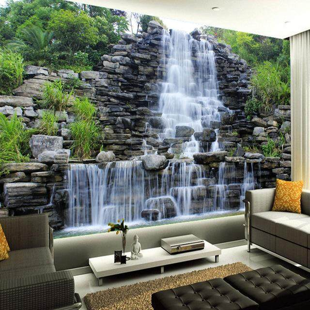 3D Wallpaper Vinyl Wall Sticker Waterfall Nature Landscape Wall Mural Living Room Hotel Bedroom Luxury Decor Wallpaper