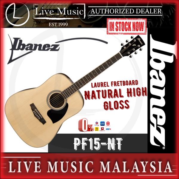 Ibanez PF15 Acoustic Guitar - Natural High Gloss (PF15-BK) Malaysia