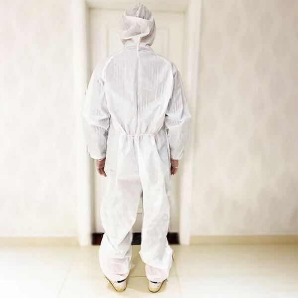 Áo Choàng Bảo Vệ Hoạt Động Ngoài Trời Không Dệt Toàn Thân Cách Ly Trang Phục Bảo Hộ Chặn Phòng Thủ
