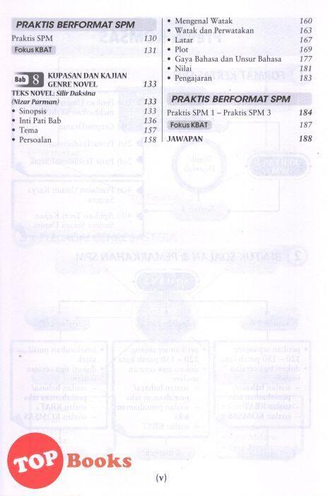 Topbooks Sasbadi Kupasan Kajian Super Komsas Tingkatan 5 Silir Daksina Lazada