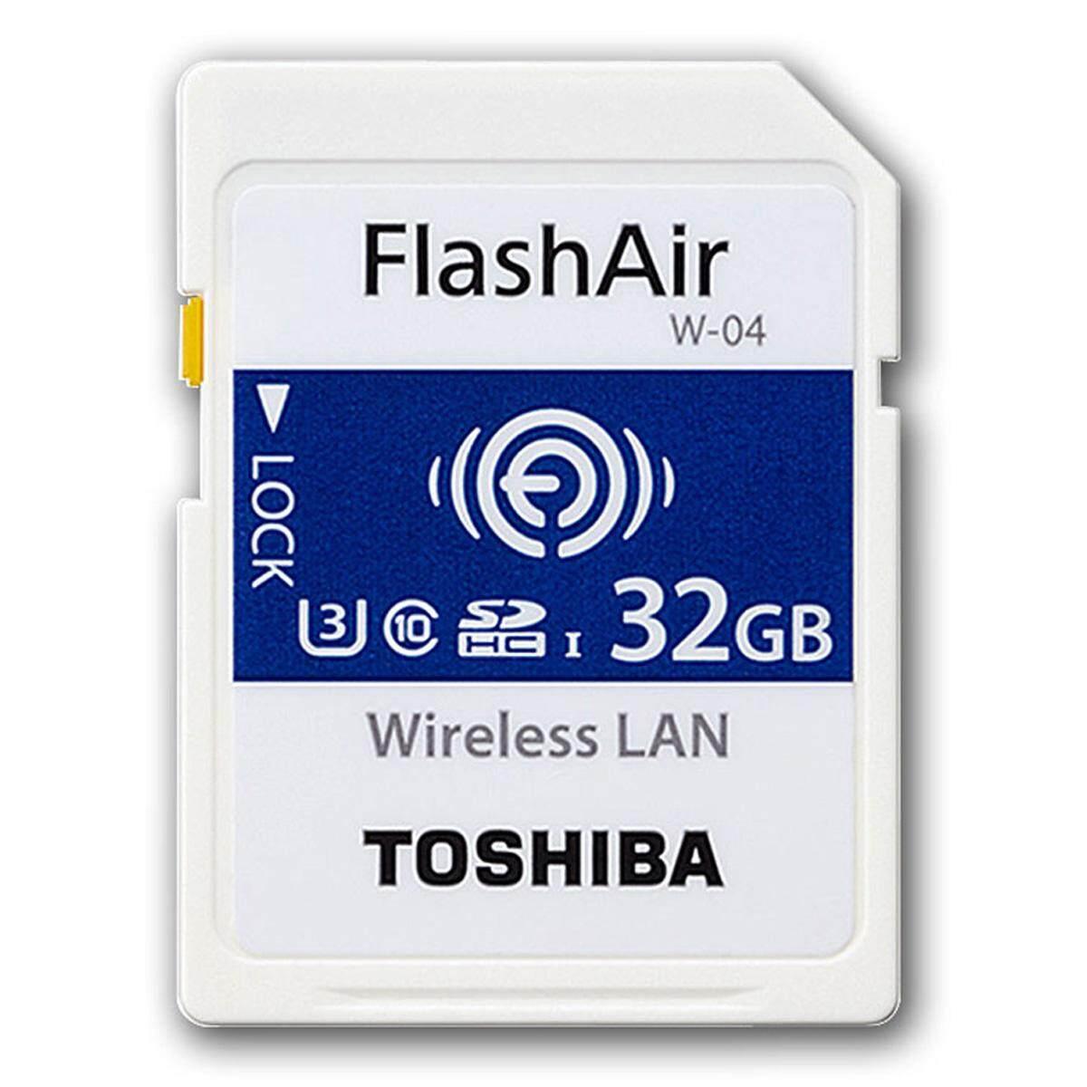 Toshiba FlashAir Wireless LAN W-04 SDHC U3 Class10 Memory Card w/ R:90MB/s, W: 70MB/s