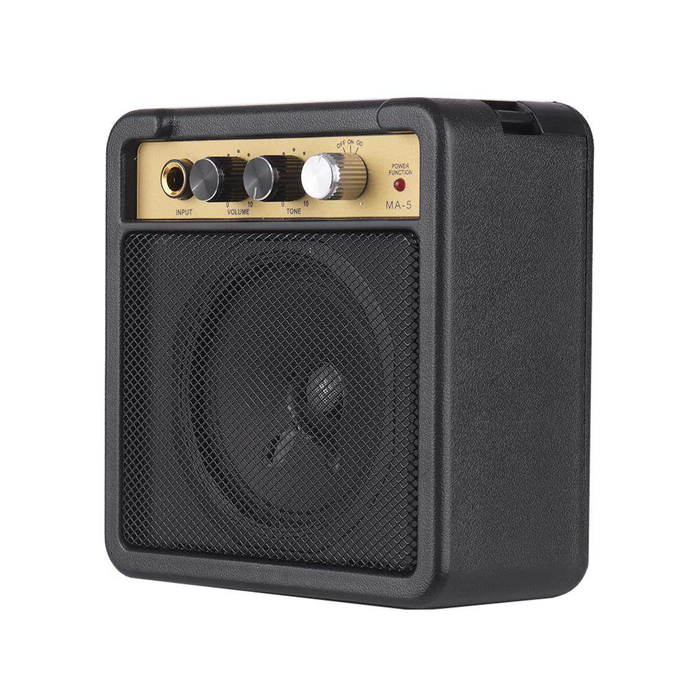 Mini Guitar Amplifier Amp Speaker 5W with 6.35mm Input 1/4 Inch Headphone Output Supports Volume Tone Adjustment Overdrive