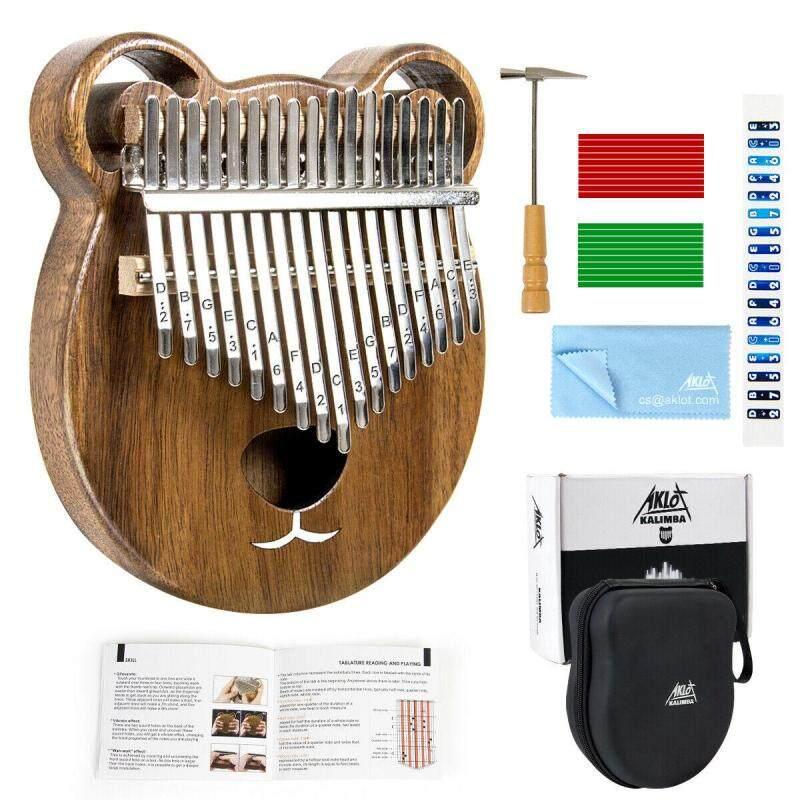 Aklot Kalimba Solid Mahogany Thumb Piano Mbira 17 Keys with Tuner Hammer Gig Bag Freebies for Kids Gift Malaysia