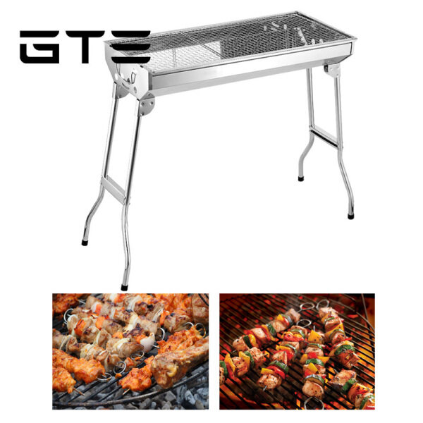 GTE Folding Portable Stainless Steel Outdoor Barbecue Charcoal Satay Grill Pembakar Sate - Fulfilled by GTE SHOP