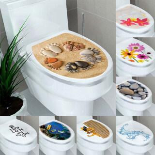 3239Cm Không Thấm Nước Home Pan Trang Trí Phòng Tắm WC Bìa Đề Can Miếng Dán Bồn Cầu Nhãn Dán Nhà Vệ Sinh Gần Nhất Trang Trí thumbnail