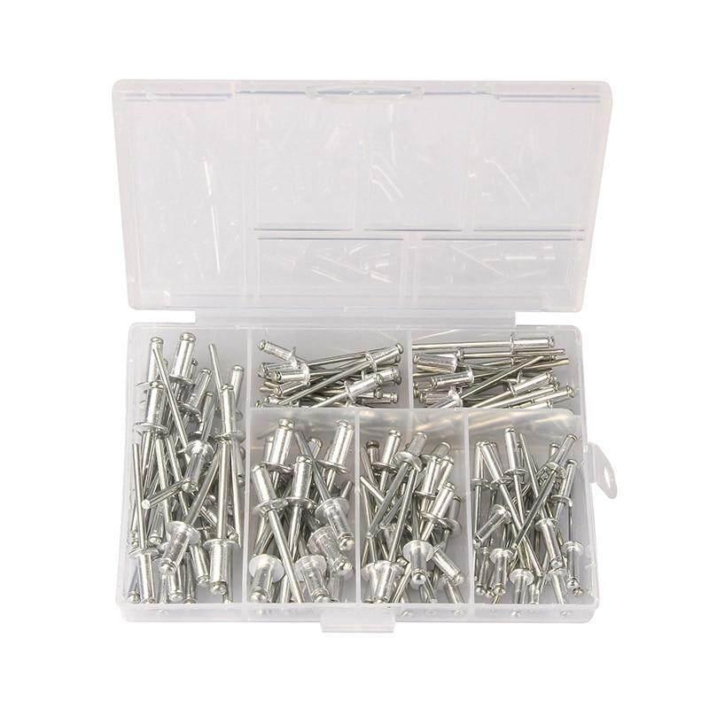 120Pcs M3.2*7/9/11 M4*8/10/13mm Aluminium Blind Rivets Nail Decoration Pop Rivets For Furniture Assortment Kit