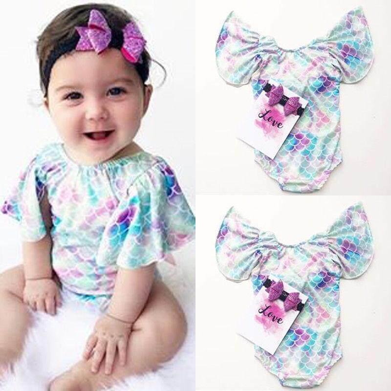 a7ac615d Kid Baby Girls Mermaid Swimwear Swimsuit Bikini Bathing Beachwear Costume