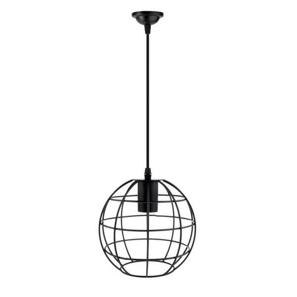 Loviver Vintage Ball Shape Lampshade w/ Cable Bulb Chandelier Sconce Decor Black