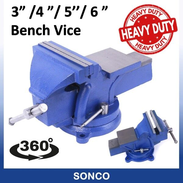 3 / 4 / 5 / 6 Swivel Base Bench Vise / Heavy Duty Bench Vise / Swivel Bench Vice / Bench Vise Swivel Bench Vice Vise Bench Vice Clamp Clamping Tools