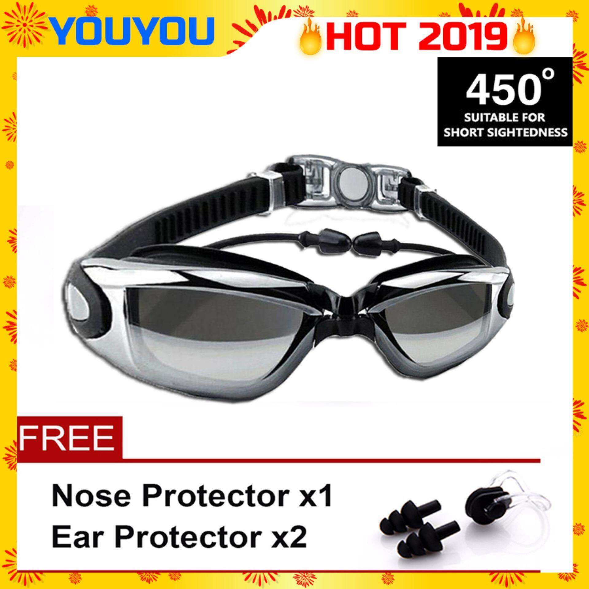 828a5ac7394 YOUYOU (450°) Adult Anti Fog Swimming Goggles High Defination Waterproof  Glasses with Protective