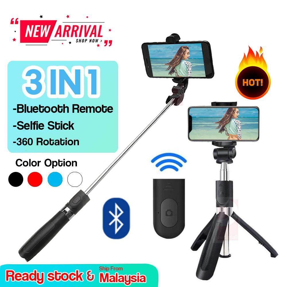 ba3a1586e93ead [hot Sale] 3 In1 Extendable Handheld Selfie Self Stick Monopod Tripods  Bluetooth Remote Shutter