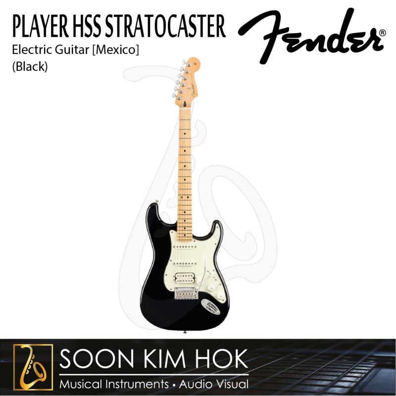FENDER PLAYER HSS STRATOCASTER Electric Guitar, MapleFB (Black) (Mexico) [Mexico] Malaysia