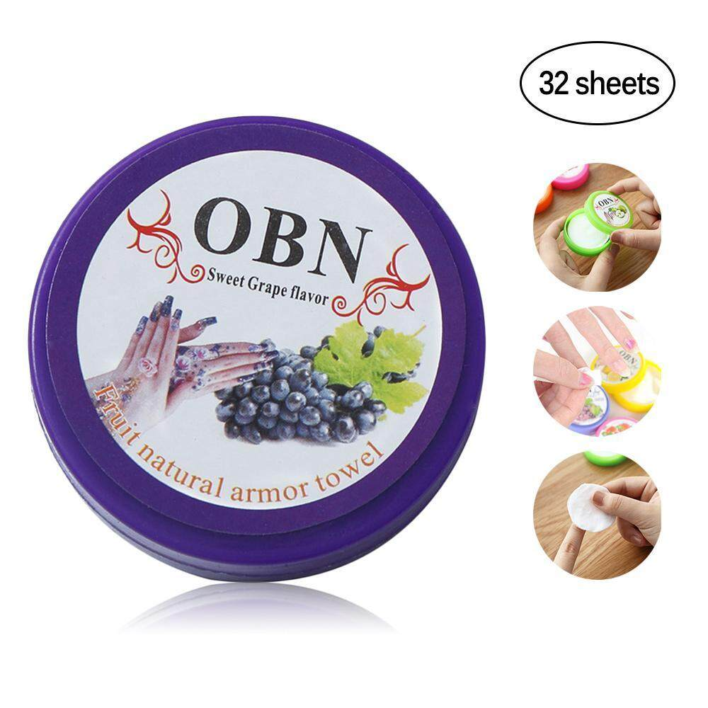 BuyInBulk OBN Disposable OBN Fruit Flavored Nail Polish Remove Towel(1 Box 32 Pcs, Random Color) Philippines