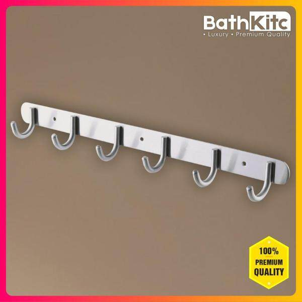 BATHKITC Modern Design Premium Quality Stainless Steel 304 Hook Bar Wall Mounted Clothes Rack Storage Bedroom, Kitchen, Bathroom