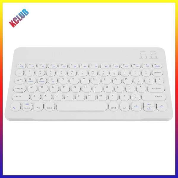 Round Cap Bluetooth-compatible Multi Device Keyboard for iOS Android Phone Tablet PC Singapore
