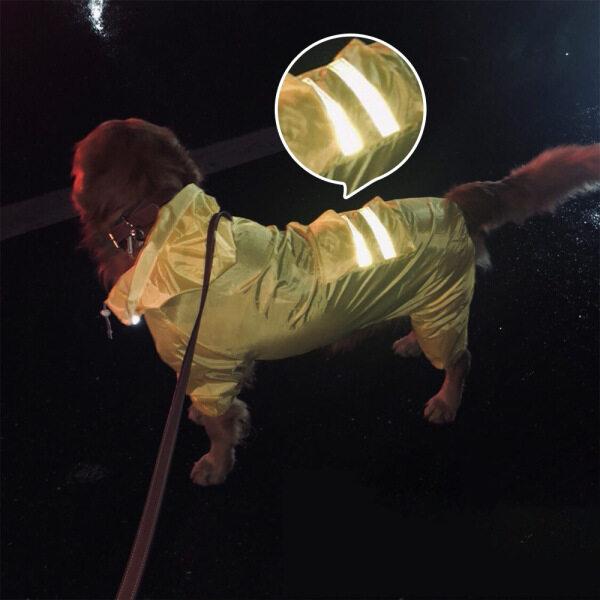 Áo Liền Quần Cw】 Áo Mưa Cho Chó Cho Áo Mưa, Áo Choàng Thú Nuôi Cún Cưng Chống Thấm Nước Labrador Chó Golden Retriever