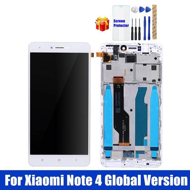 Untuk Xiaomi Redmi Note 4 Layar LCD Global 4 GB 64 GB dengan Bingkai Panel Sentuh Layar LCD Redmi Note 4 Pro Snapdragon 625 LCD Pergantian Digital Bagian Perbaiakan Cadangan + Kaca Antigores + Perbaikan Alat Alat