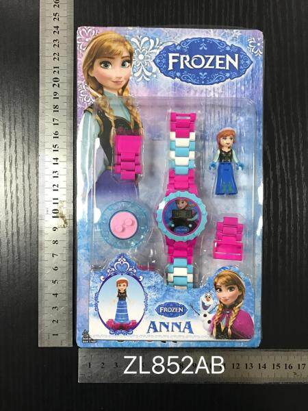 [RAYA SALE] Timemall Children Kids Watch Frozen Cartoon Building Blocks Watch DIY Puzzle Watch Toy Fashion Watches Malaysia