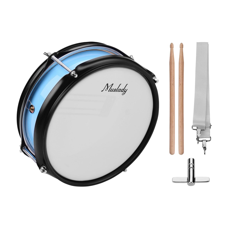 Deal Khuyến Mãi Muslady 8Inch Snare Drum Head Với Dùi Trống Dây Đeo Vai Trống Key Cho Ban Nhạc Sinh Viên