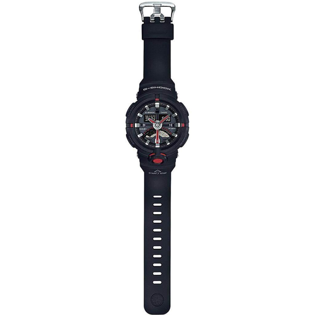 การใช้งาน  กำแพงเพชร 【 STOCK】Original _ Casio_G-Shock GA110 Duo W/เวลา 200M กันน้ำกันกระแทกและกันน้ำโลกนาฬิกากีฬาไฟแอลอีดีอัตโนมัติ Wist นาฬิกากีฬาสำหรับ MenBlack สีแดง GA-500-1