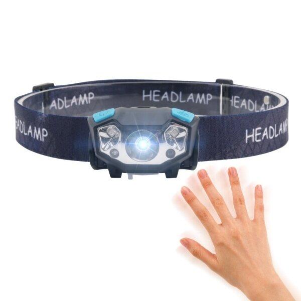 Bảng giá 【CW】 Đèn LED Đầu Cảm Ứng Điện Xuyên Biên Giới Đèn Pha Sạc USB Đèn Pha Chống Nước Cắm Trại Câu Cá Ban Đêm Ở Erbium