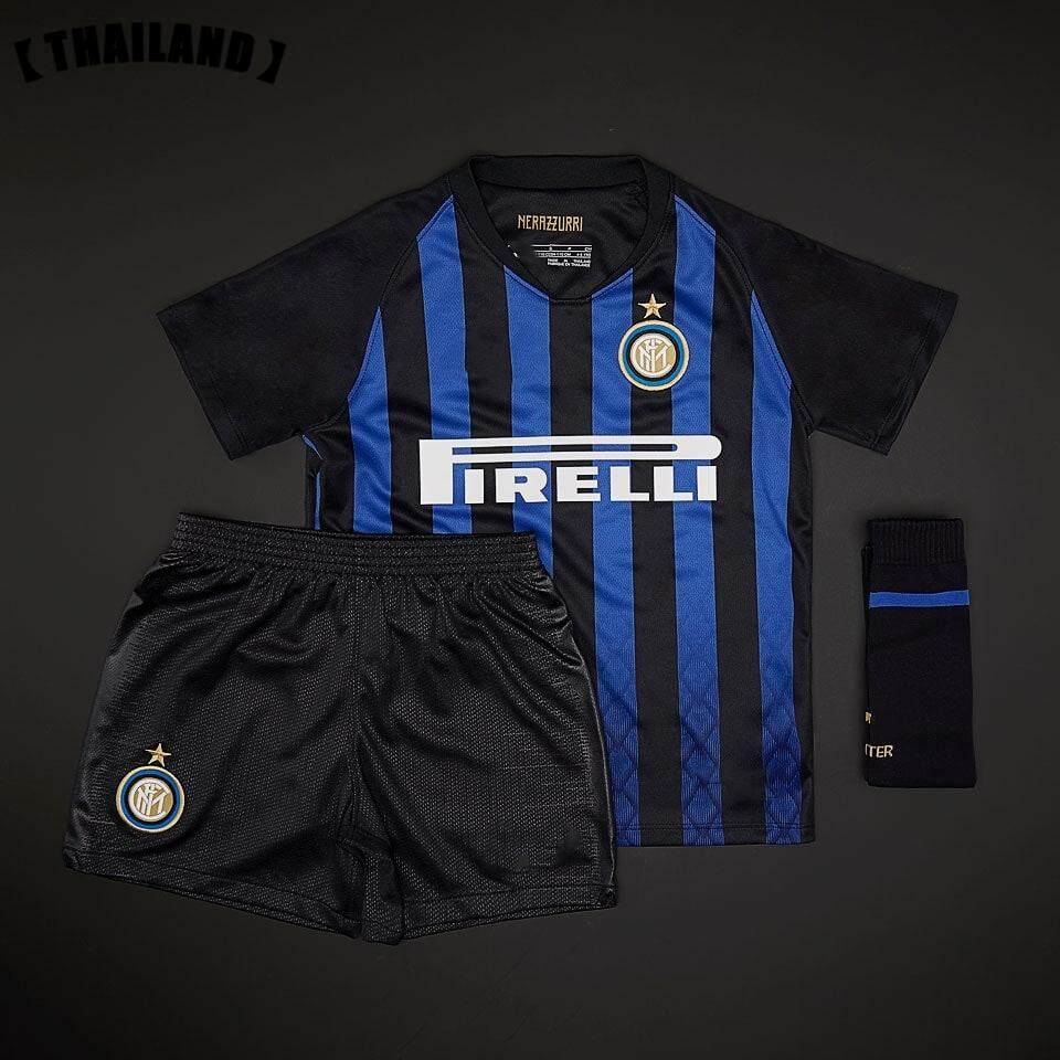627422d23 (3-18years) 2019 New Season Inter Milan Home and Away Football Jersey Top