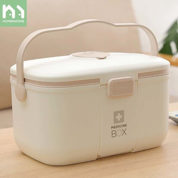 Homenhome Medicine Box Multi-layer Storage Box Household Medical Box Portable First Aid Medical Box