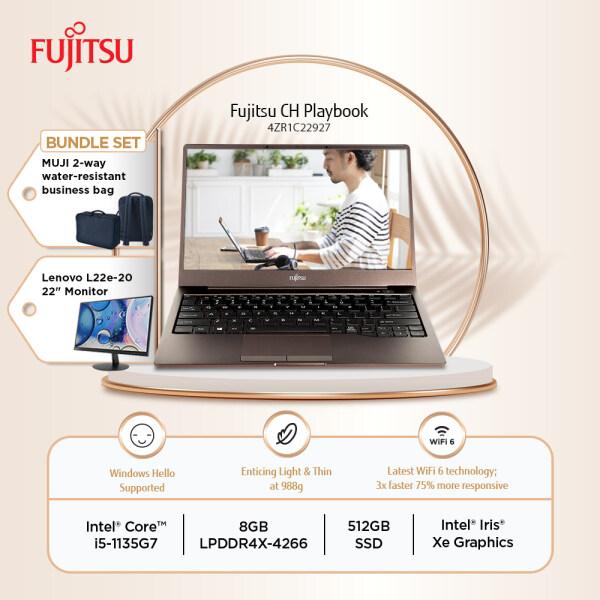 Fujitsu CH 13 4ZR1C22927 Brown Laptop i5-1135G7 8GB-OB 512GB SSD 13.3 FHD W10 + FREE MUJI BAG + Lenovo L22e-20 Monitor Malaysia