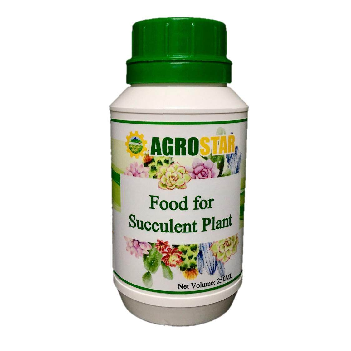 AGROSTAR - Food for Succulent Plant - Completed with Nitrogen, Phosphorus, Potassium nutrients, plant based amino acids, enzymes and trace elements (Brown) 250ML
