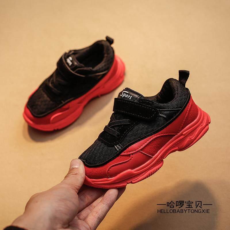 2018 model baru pasang anak laki-laki sepatu olahraga Sepatu bayi 1-3 tahun fe43fb3444