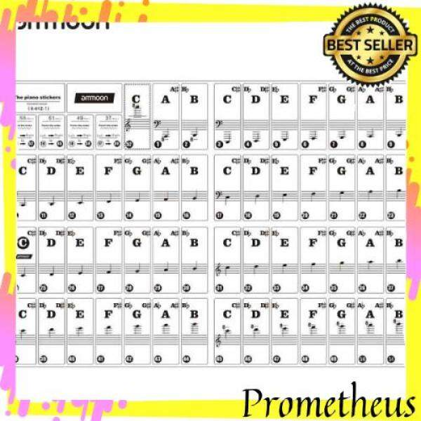 HOT ITEM [LAST STOCK]ammoon Piano Keyboard Stickers for 37/ 49/ 61/ 88 Key Keyboards Removable Transparent for Kids Beginners Piano Practice Learning Malaysia